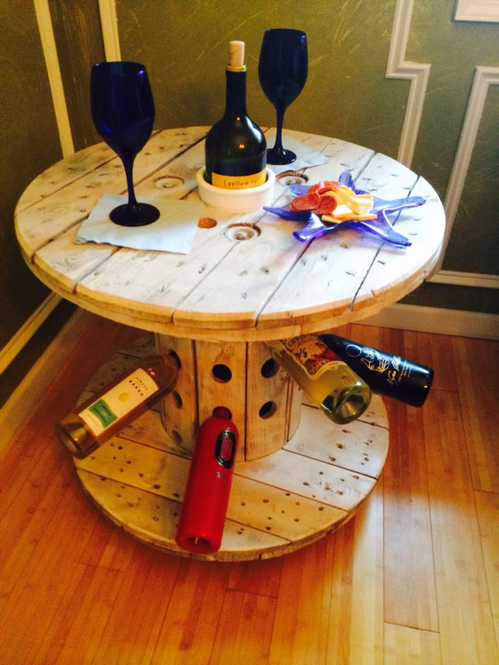 Cable Reel Wine Table